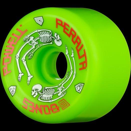 Powell Peralta G-Bones Skateboard Wheels 64mm 97a - GREEN OR BLUE (4 pack)