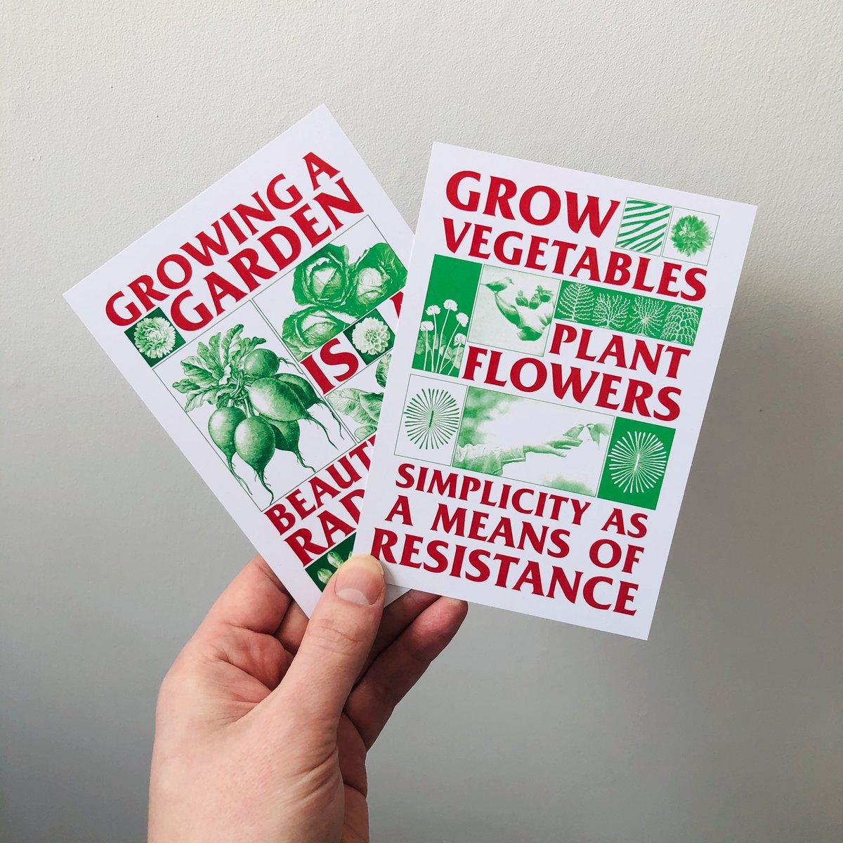 Image of Radical Gardening two postcard set