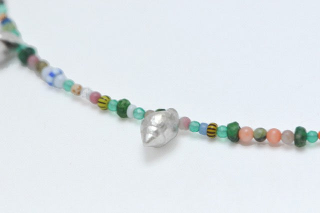 Image of Summer silver shells necklace