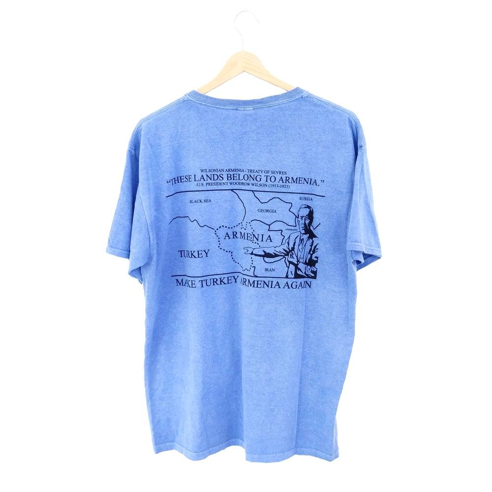 Image of Wilsonian T-shirt - Van Blue (Stonewashed)