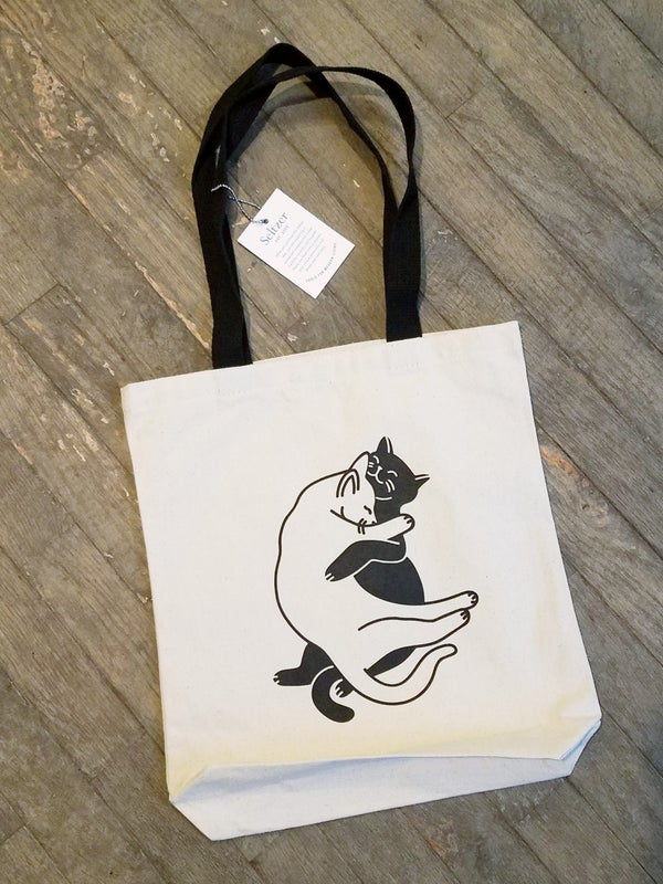 Image of Snuggle Cats Book Tote Bag