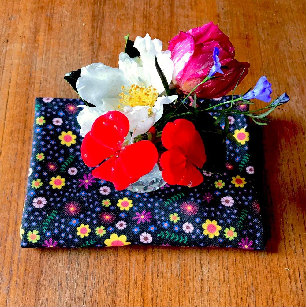 Image of Hundreds and Flowers Tea Towel