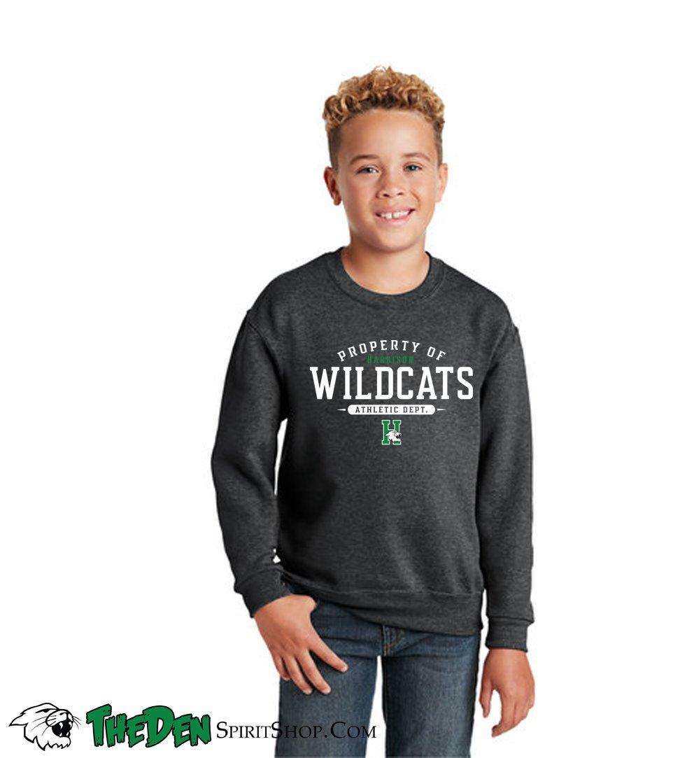 Image of Property Of Wildcats Athletic Dept. - Youth Crew Sweatshirt