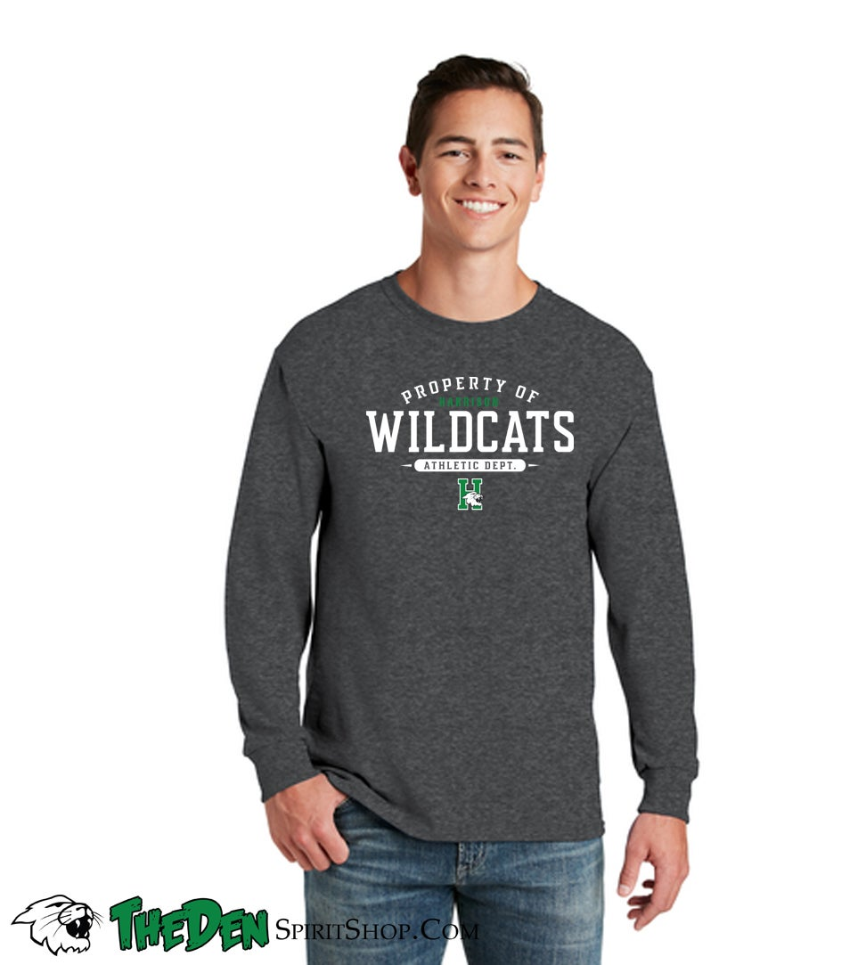 Image of Property Of Wildcats Athletic Dept. - Adult Longsleeve Tee