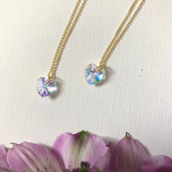 Image of NEW! Crystal Heart Friendship Necklaces