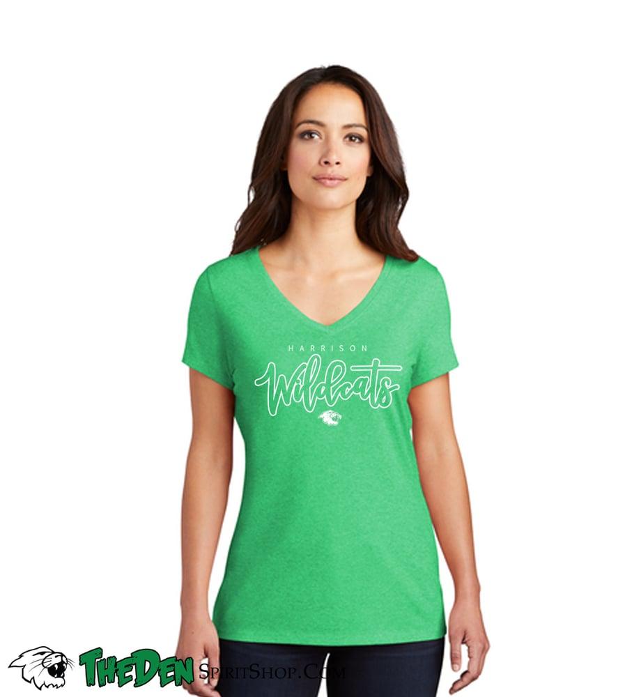 Image of Women's Varsity Tee - Green