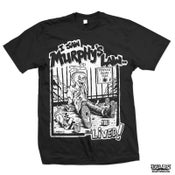 """Image of MURPHY'S LAW """"I Saw Murphy's Law and Lived"""" Black T-Shirt"""