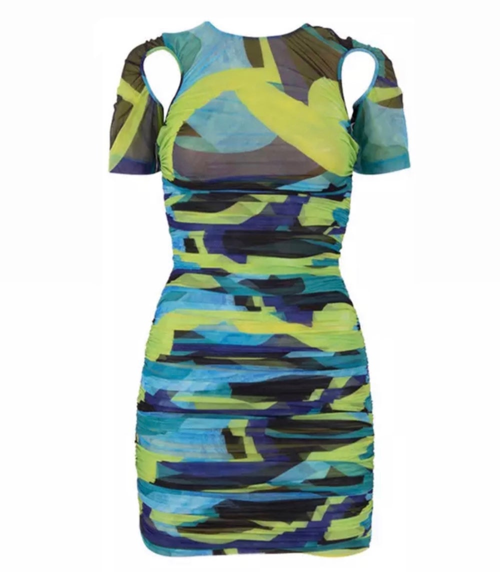 Image of Green Abstract | Dress