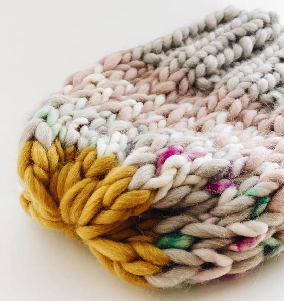 Image of Pastel merino beanie