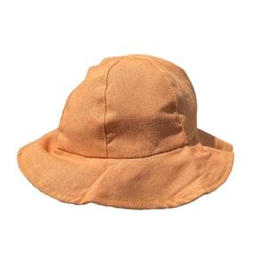 Image of Little Linen bucket hat - Orange