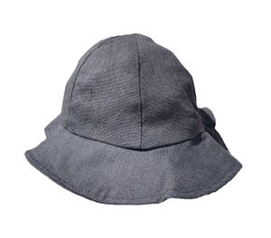 Image of Little linen bucket hat - Black