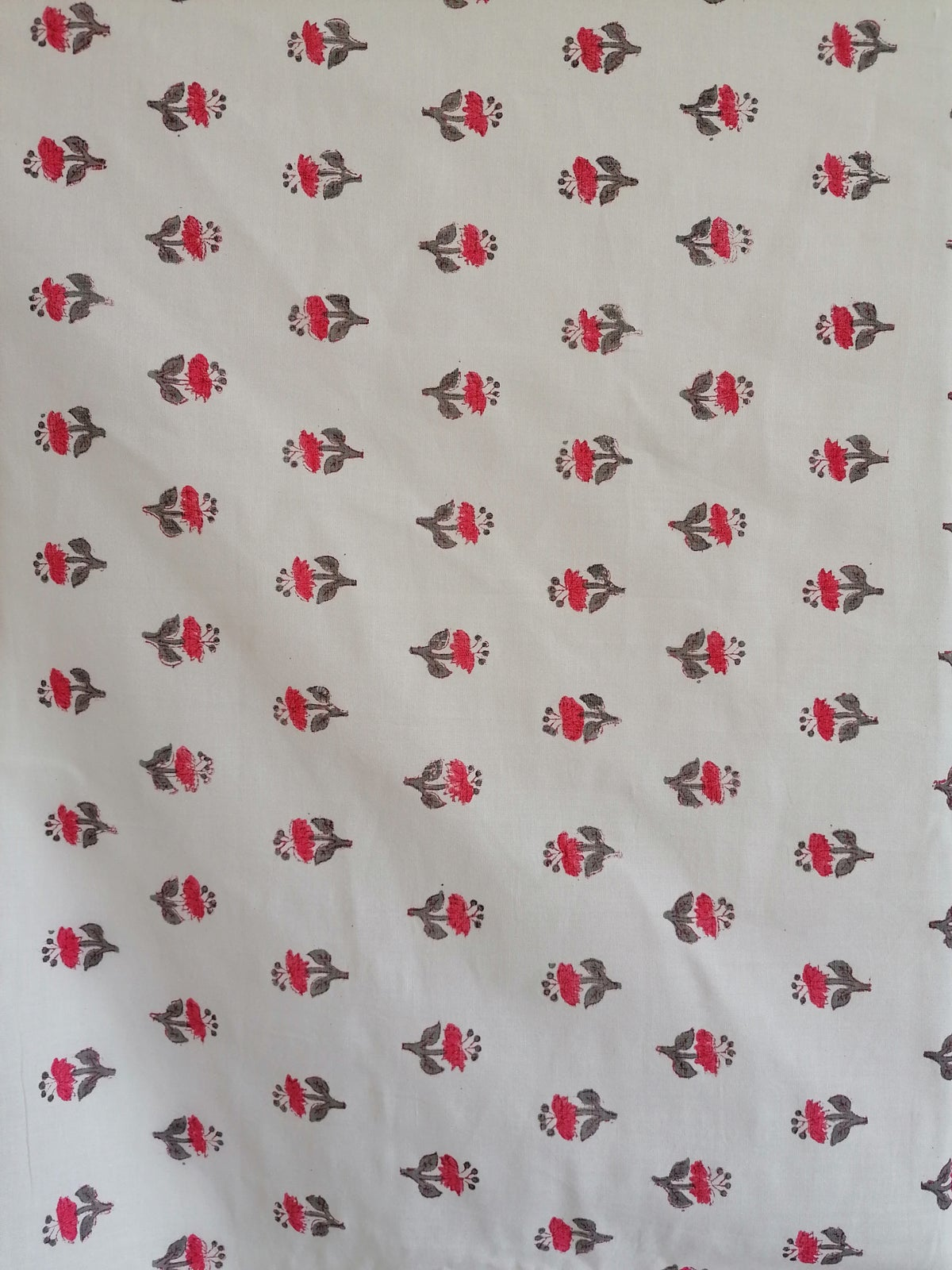 Image of Namasté fabric fleurs de lin