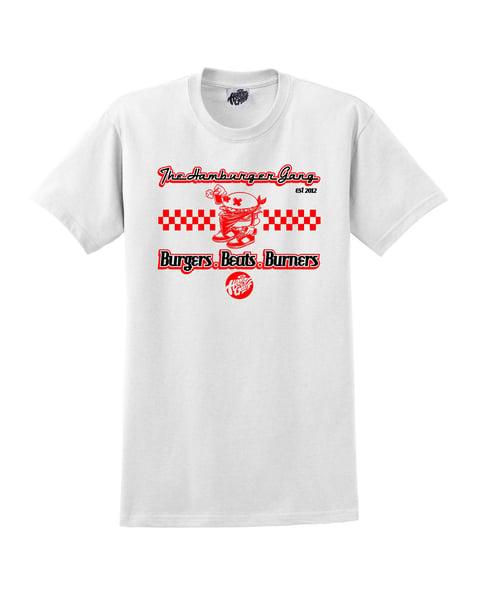 Image of The Hamburger Gang 'Burgers Beats & Burners' Diner T-shirt
