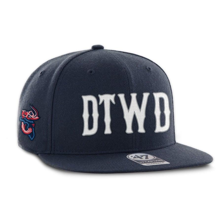 Image of DTWD Shrimp - Retro - Navy 47 Brand hat