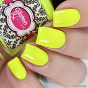Image of Suns Out, Buns Out – yellow neon crème polish