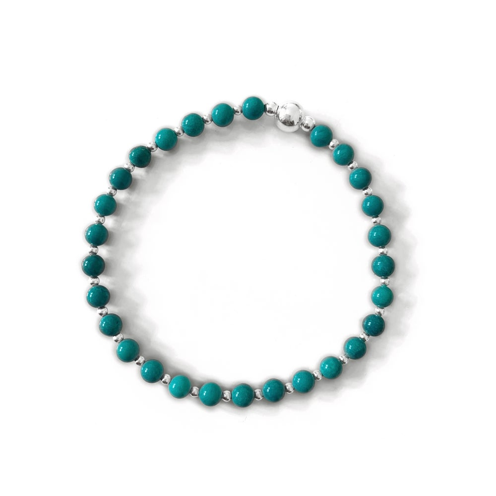 Image of Turquoise & Sterling Silver Stacking Bracelet
