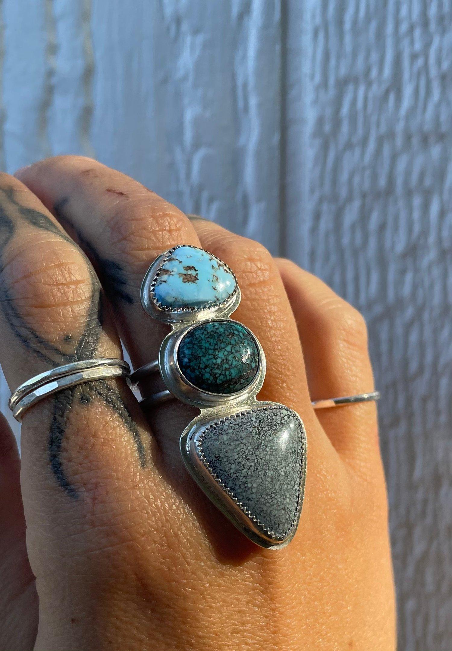 Image of Turquoise Three Stone