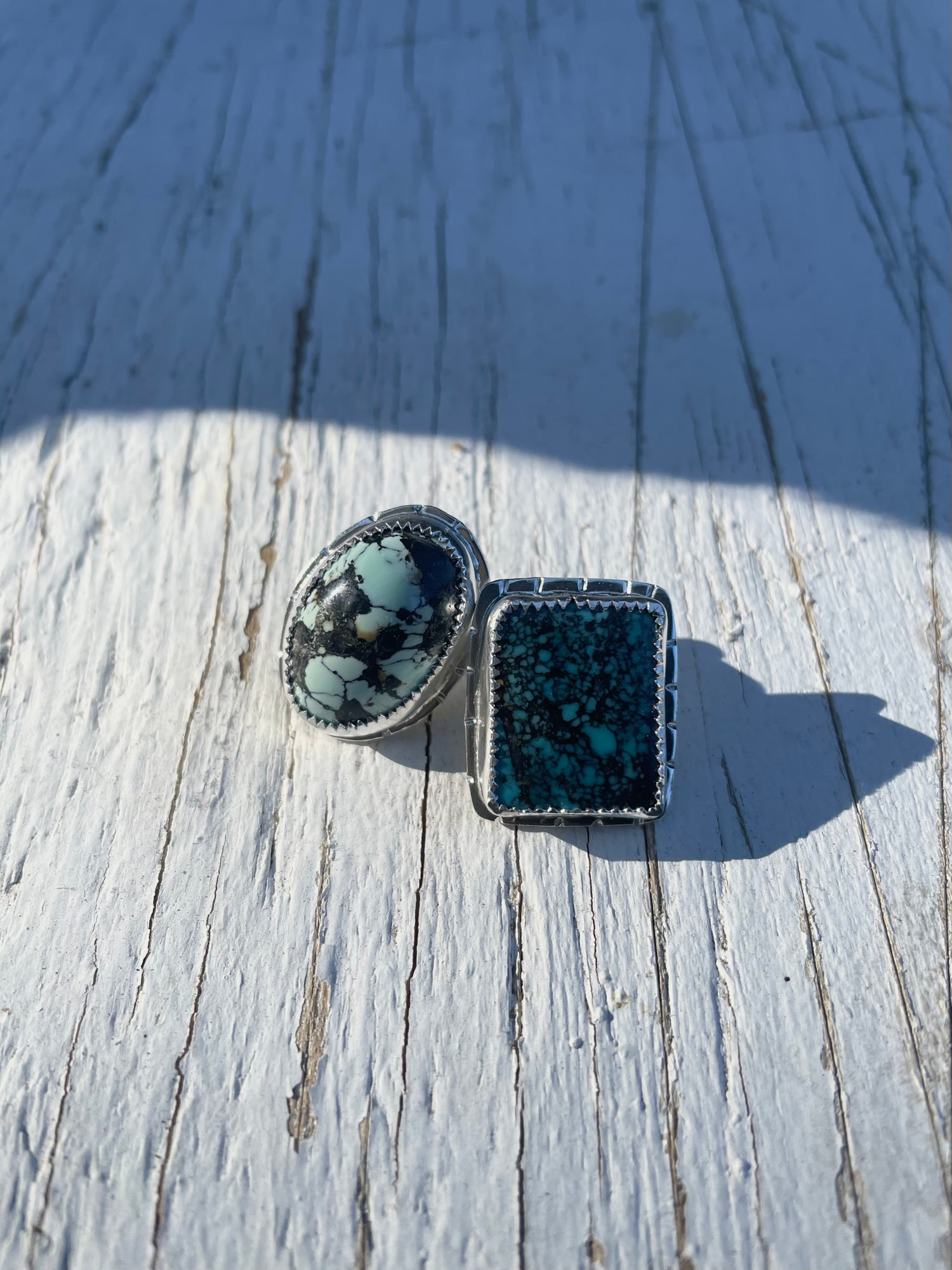 Image of Mismatched Turquoise Studs