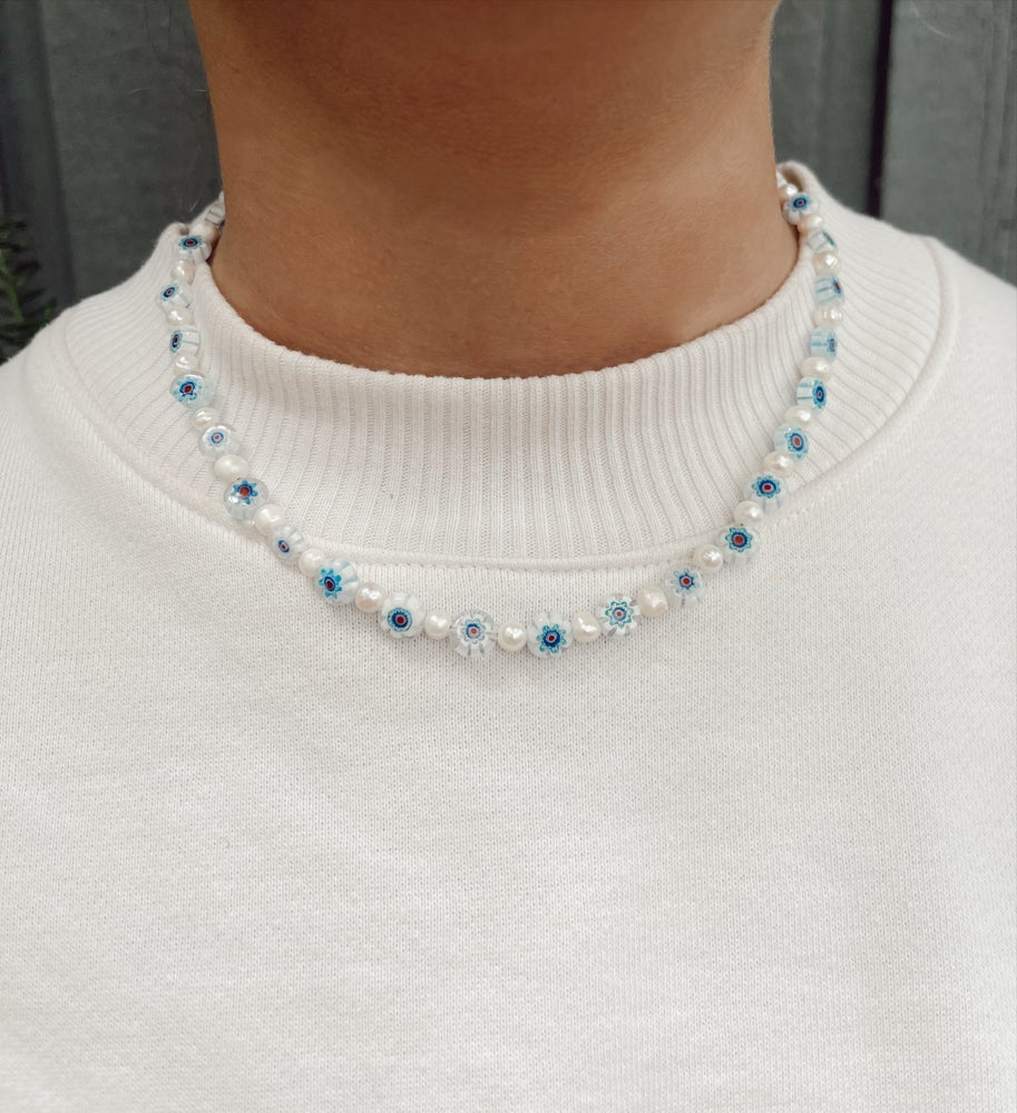 Image of Millefiori and Pearl Necklaces