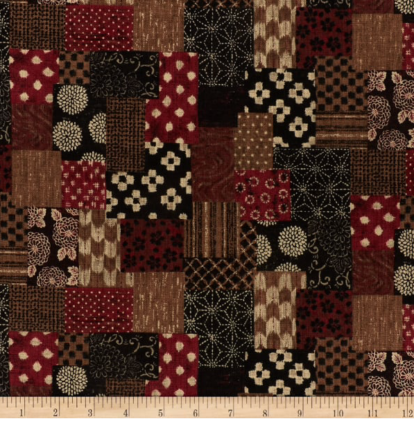 Image of Nara Patchwork Red Shade 30cm