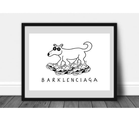 Image of Barklenciaga designer dog.