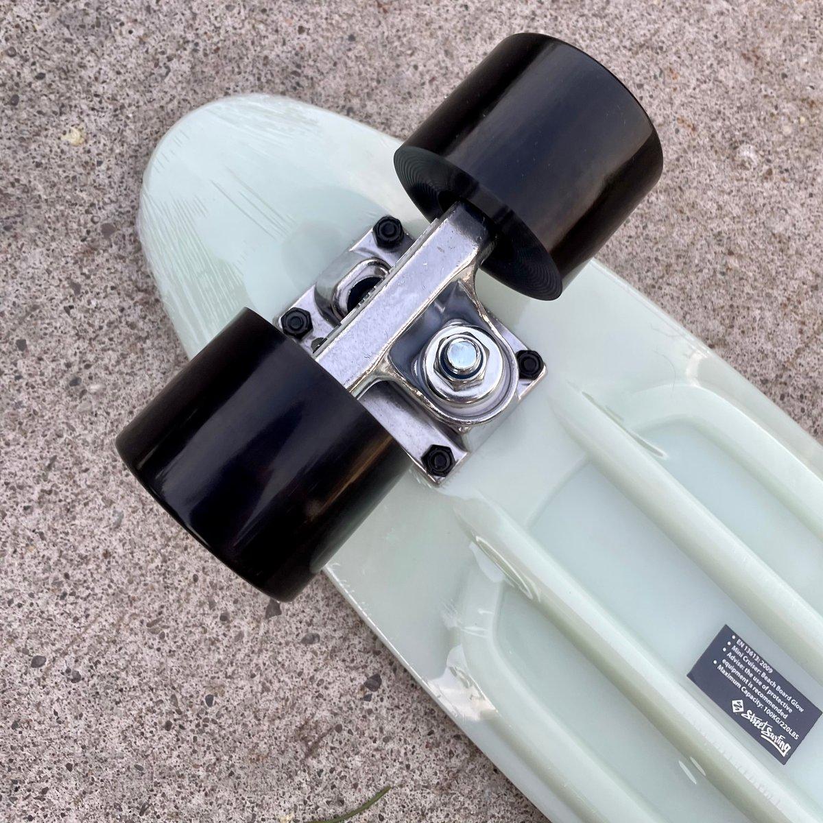 Image of Street Surfing Plastic Cruiser Skateboard - Glow in the Dark