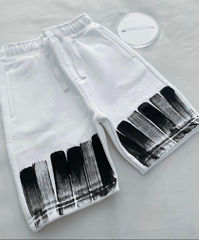 Image of White Brushed Shorts