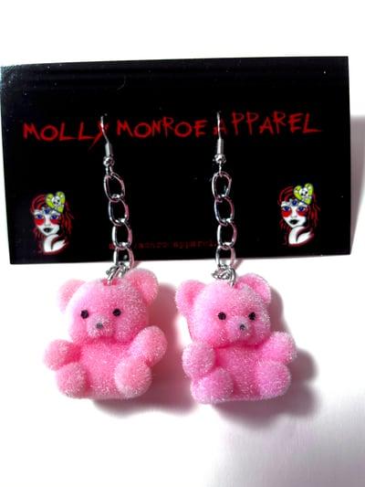 Image of Vintage Pink Bear Earrings