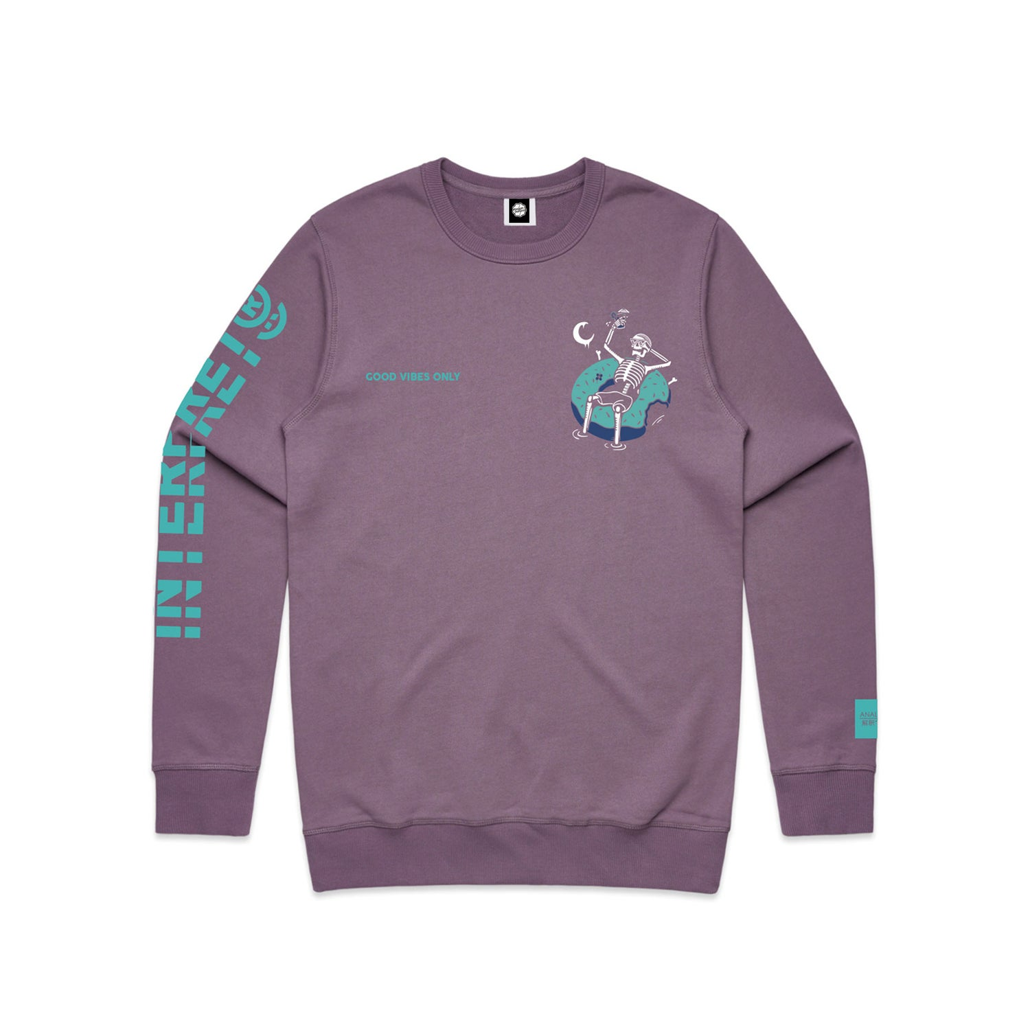 """Image of """"Good Vibes Only"""" Crewneck Sweater"""