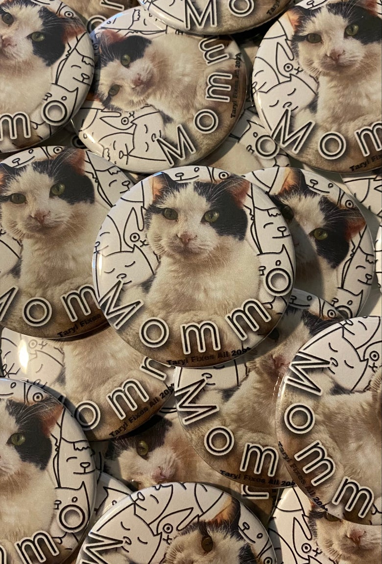 """Image of **NEW Mommo Large 2-1/4"""" Button or Bottle Opener Magnet!"""