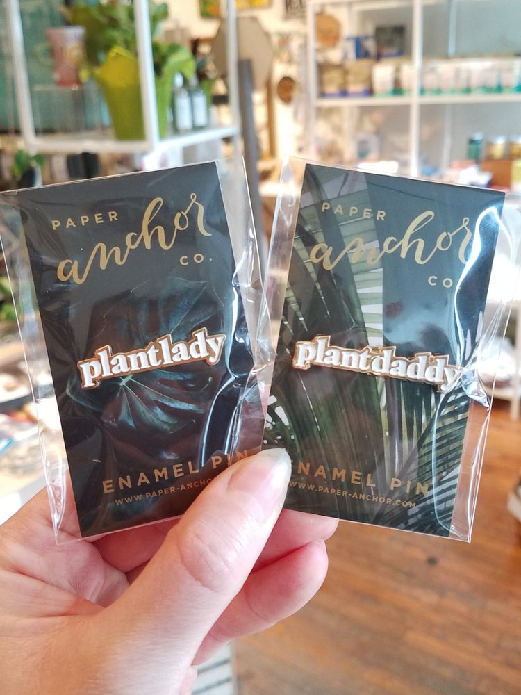 Image of Plant Lady and Plant Daddy Enamel Pin