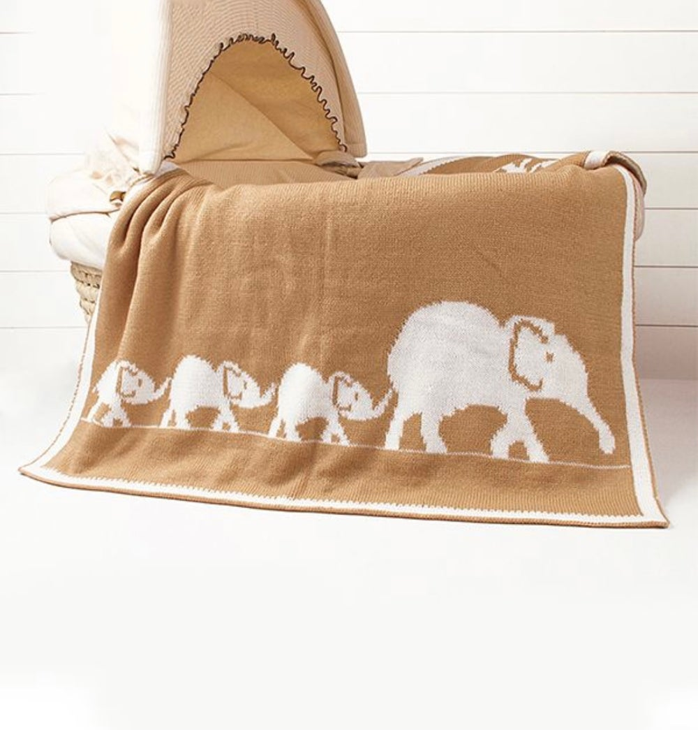 It's A Elephant Night Throw Blanket