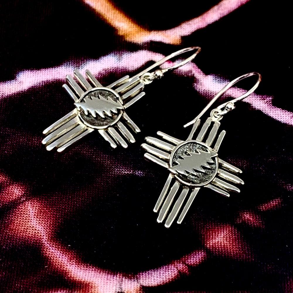 Image of Zia Cross Bolt Earrings