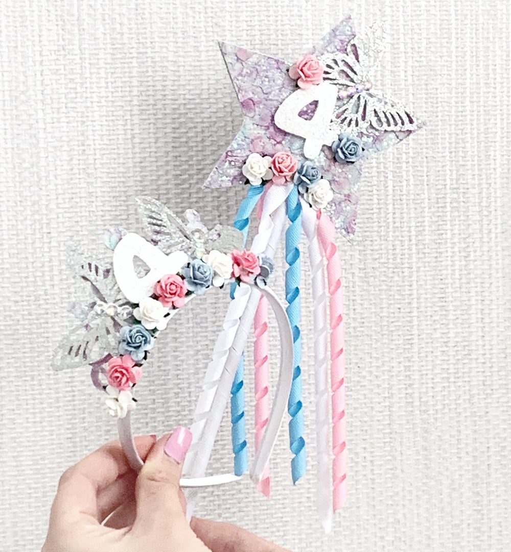 Image of Birthday crown and wand