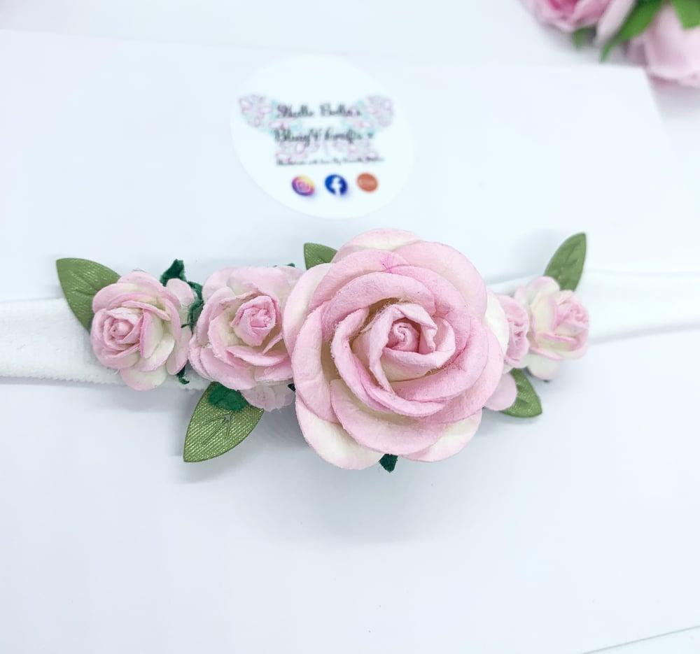 Image of Newborn/baby soft flower headband