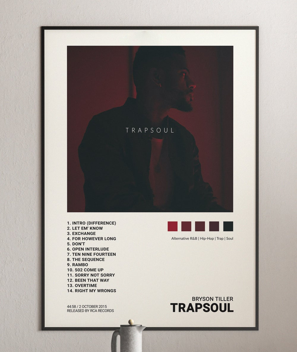 Bryson Tiller - Trapsoul Album Cover Poster