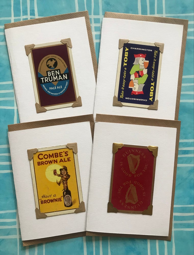 Image of Vintage Playing Cards-Beers Selection