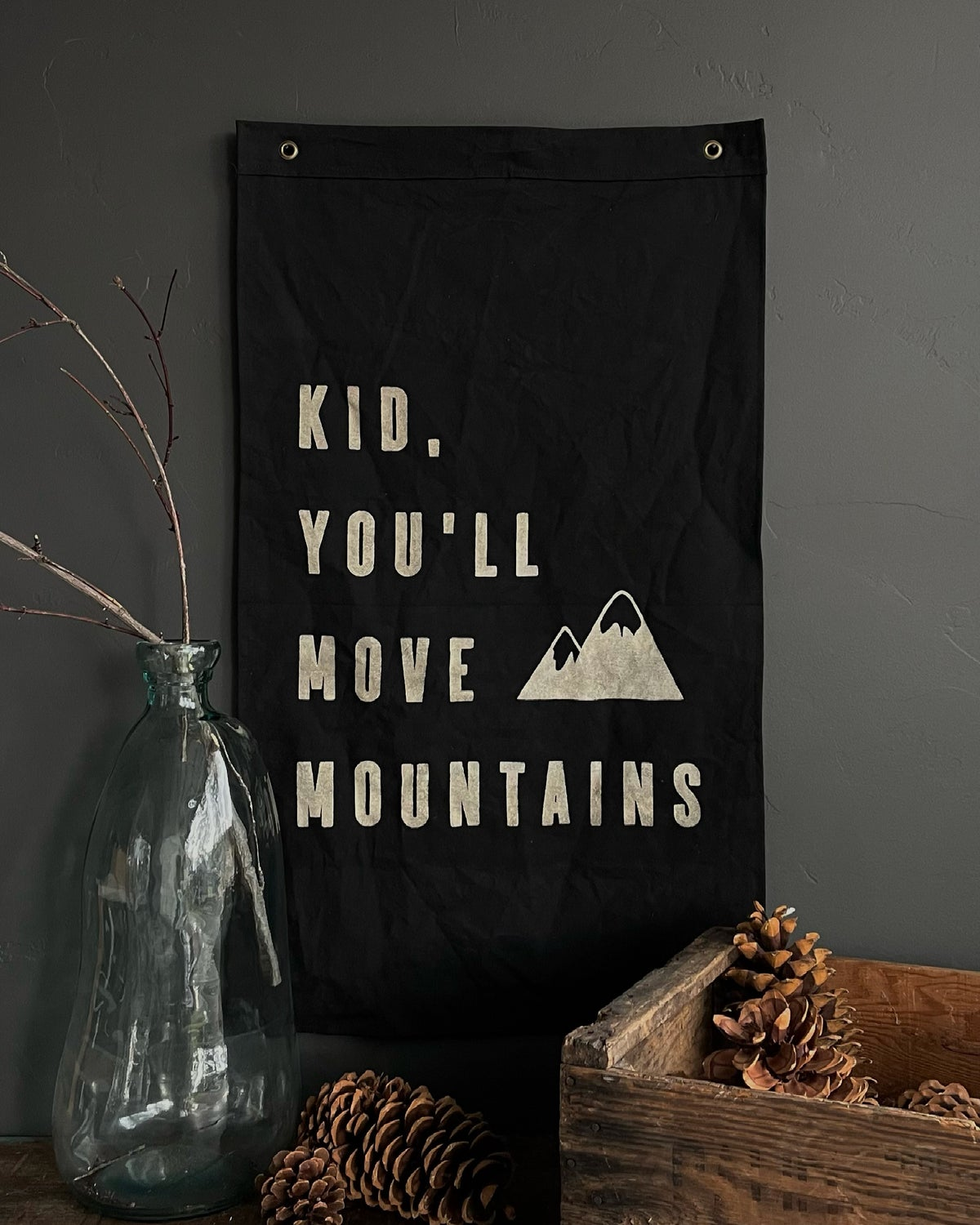 Image of KID YOU'LL MOVE MOUNTAINS FLAG