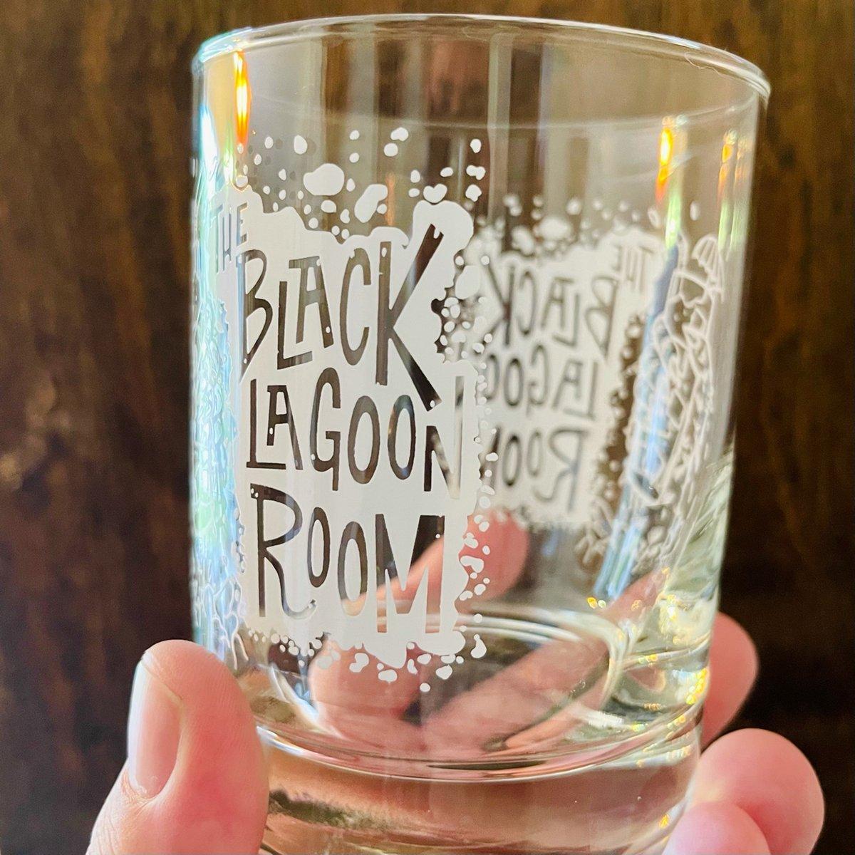 BLACK LAGOON ROOM Logo 11oz Old Fashioned Cocktail Glass
