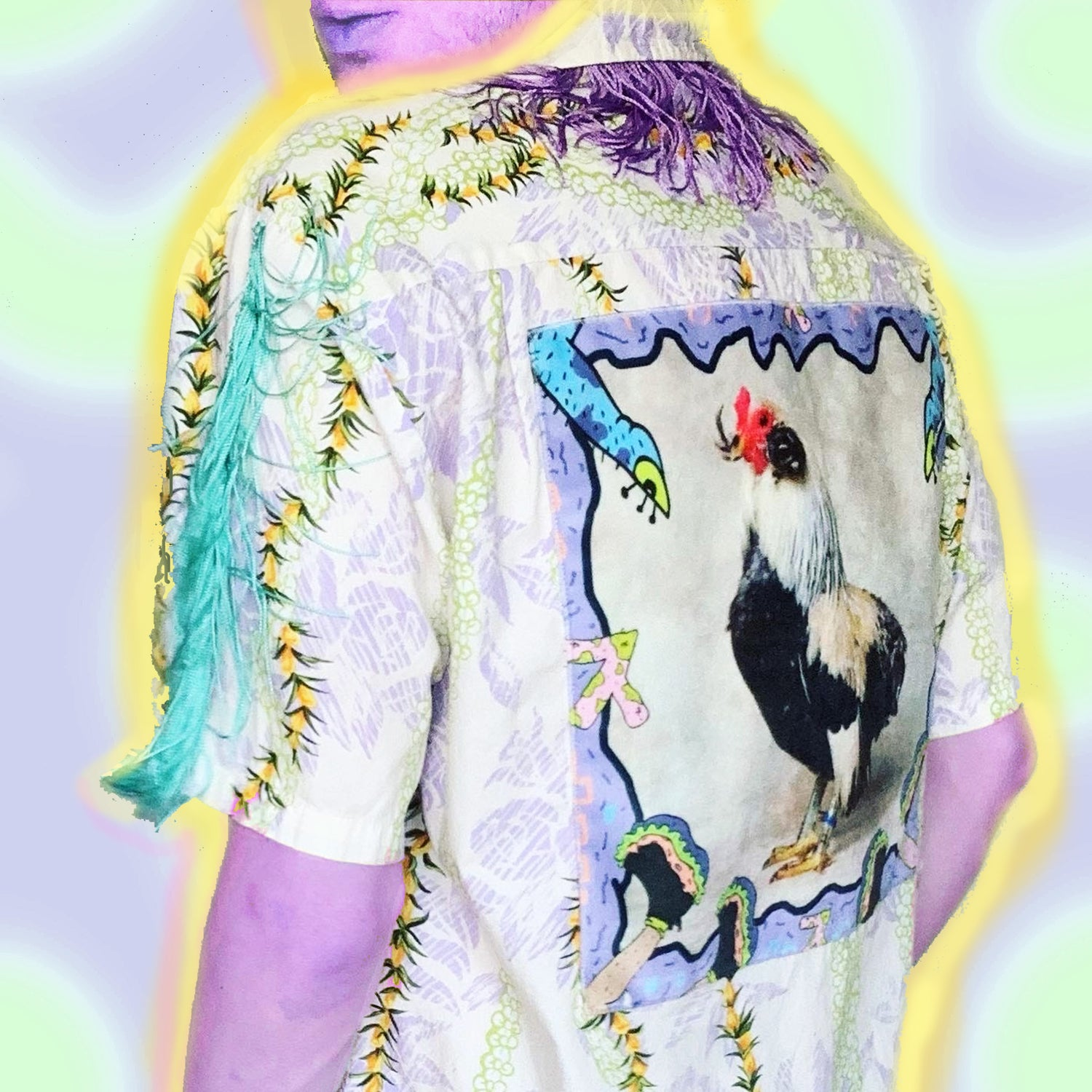 Image of One-Off Fringe Rooster S/S Button Down Top