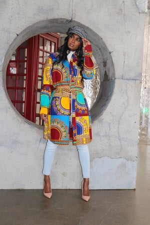 Image of The Chike shirt dress - multi colored
