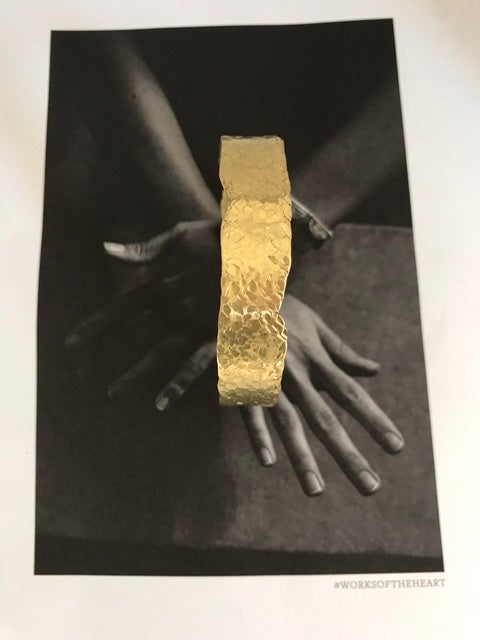Image of Perfectly imperfect brass bangle