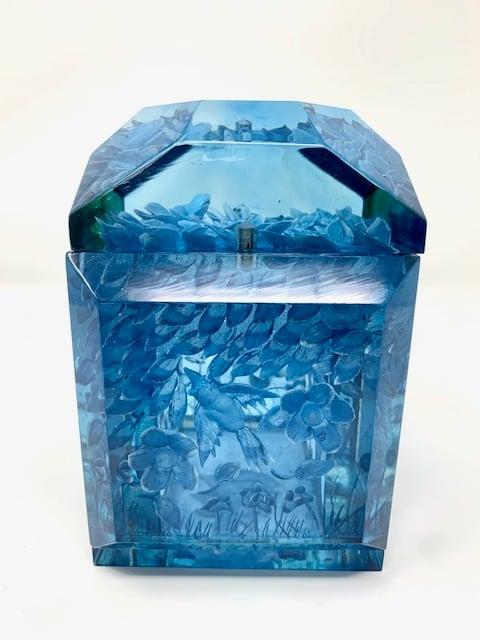 Image of Blue Petite Lucite Box