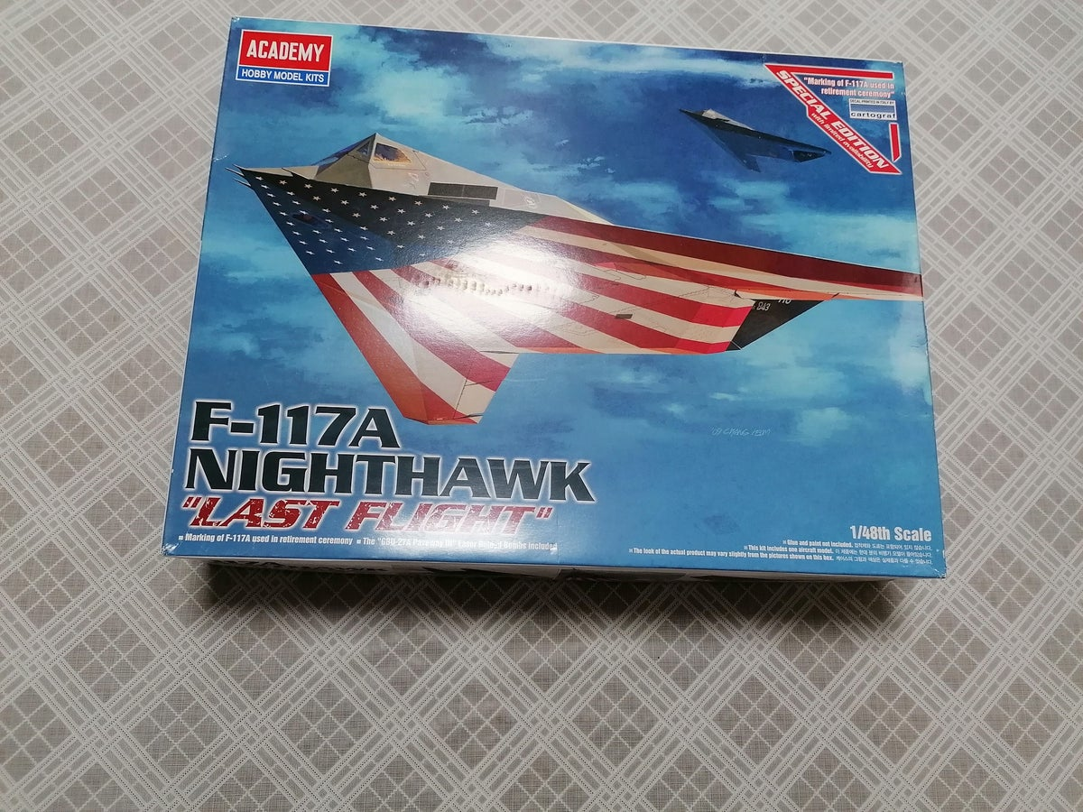 Image of ACADEMY 1/48 F-117A NIGHTHAWK LAST FLIGHT SPECIAL EDITION WITH LIMITED AVAILABILITY 12219
