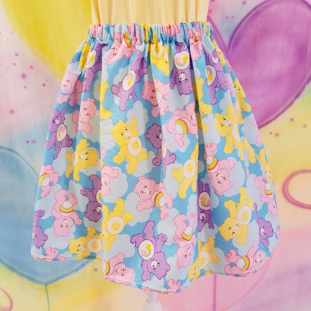 Image of Pastel Bears + Clouds Gathered Skirt