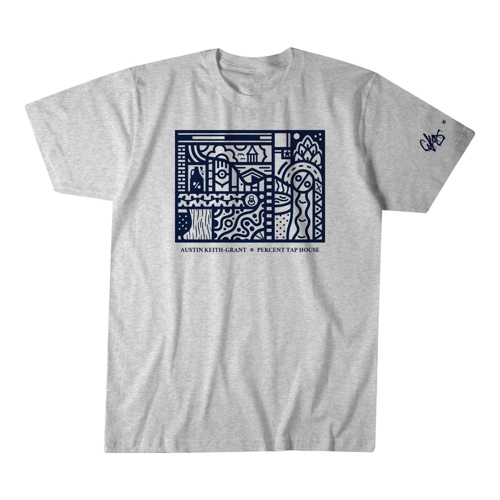 Image of AKG * Percent Tap House Ash Tee