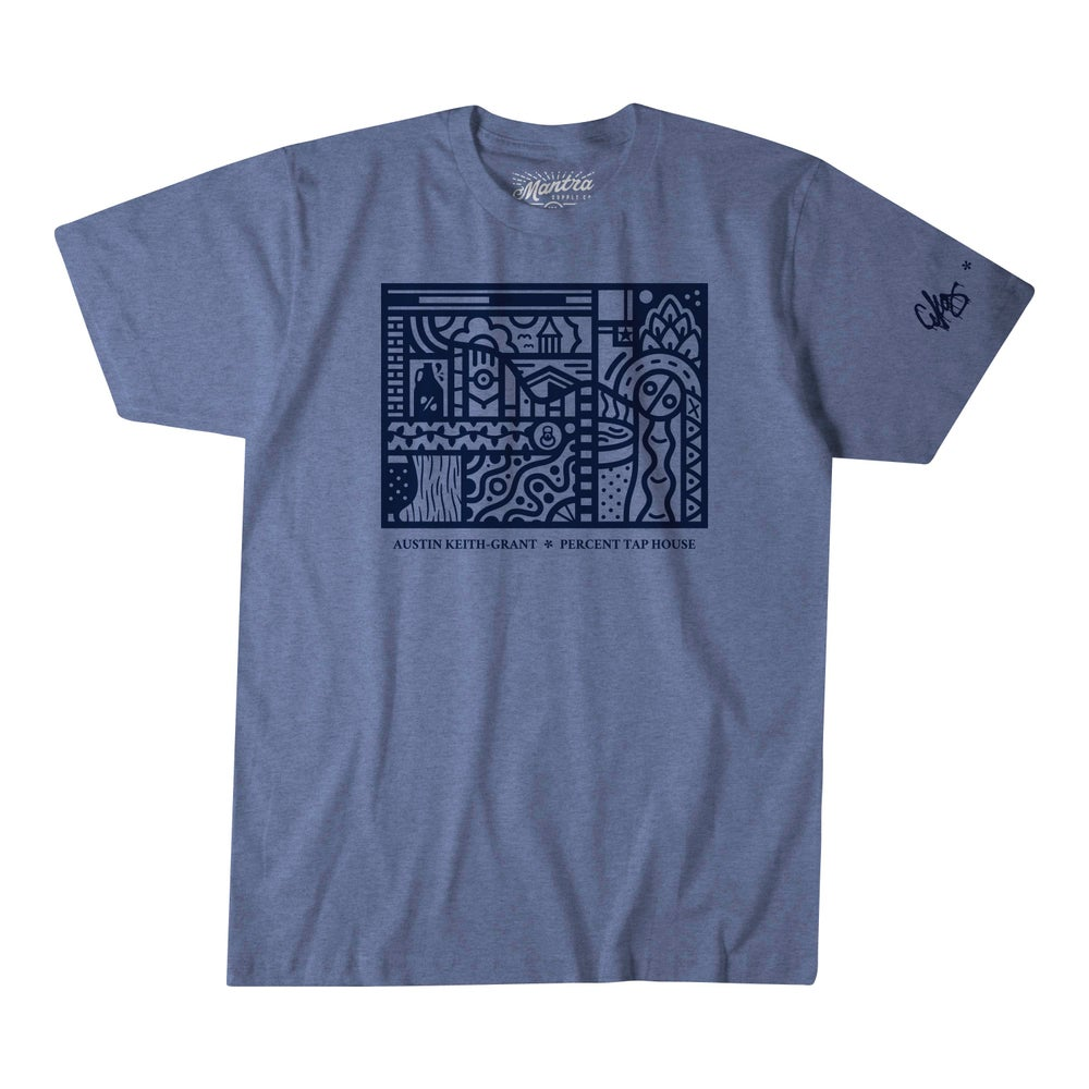 Image of AKG * Percent Tap House Navy Tee