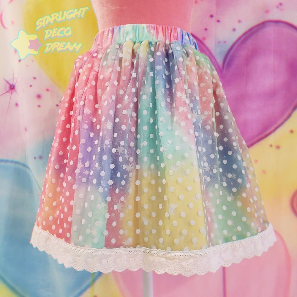 Image of Delicate Dot Rainbow Skirt