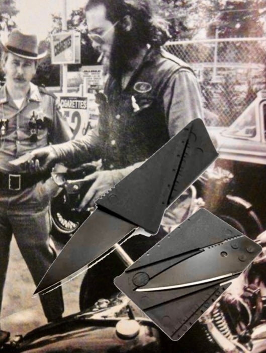 Image of H⚡️P SWAP MEET BAD ASS BLACK FOLDING KNIFE