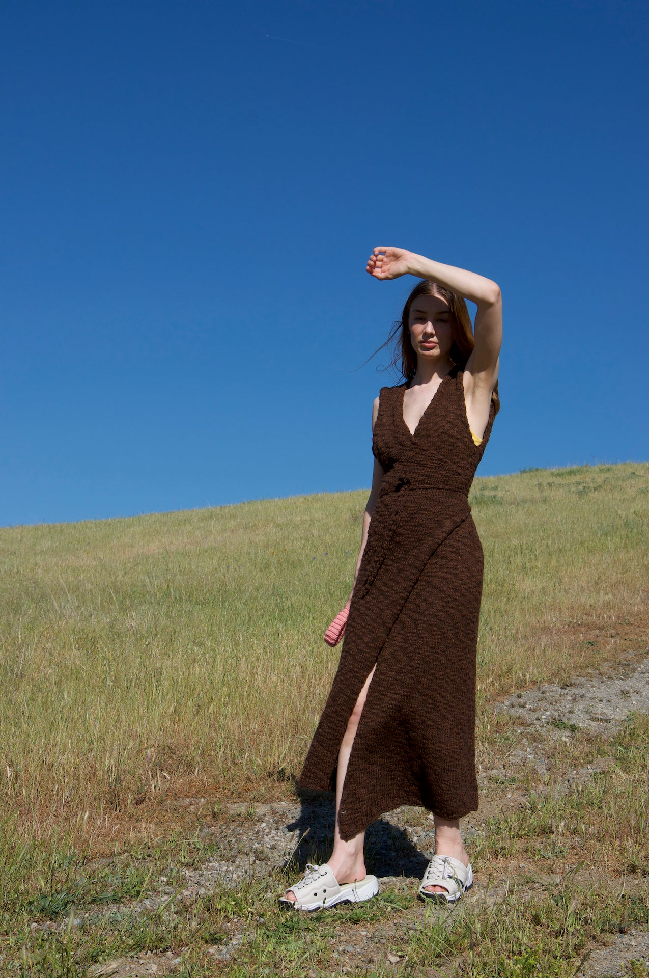 Image of Brown Wrap Dress